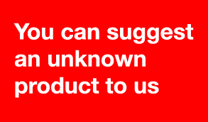 You can suggest an unknown product to us