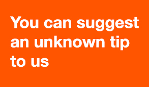 You can suggest an unknown tip to us