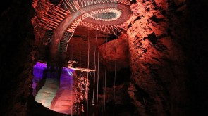 There is a cave in the UK full of trampolines.