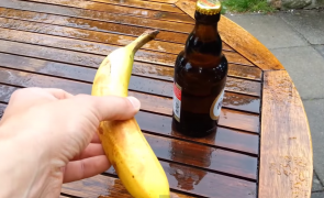 You can open a beer bottle with a banana.