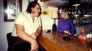 Andre the giant at the bar.