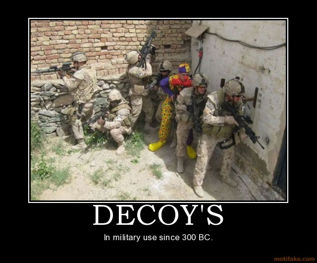 decoy meme, military meme