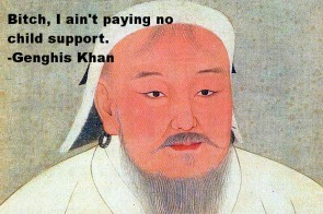 One in every 200 men alive today is a relative of Genghis Khan.