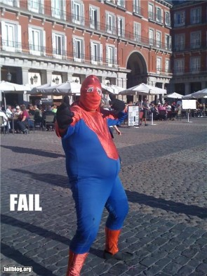 Spiderman punched a cop, and lost.