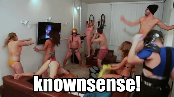 "Screenshot from the Harlem Shake Video ""Swimsuit Version""."