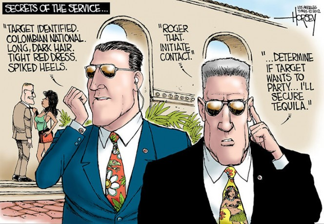 secret service scandal cartoon