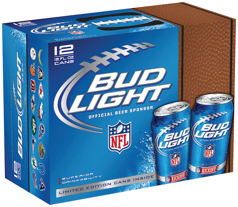 bud light beer sponsor of NFL, bud light box