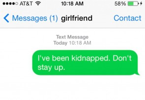 A man lied about a kidnapping to his girlfriend to continue partying.
