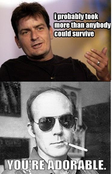 Charlie Sheen & Hunter S. Thompson Meme