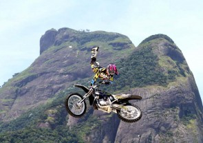 Freestyle motocross can happen because of one man's stolen invention.