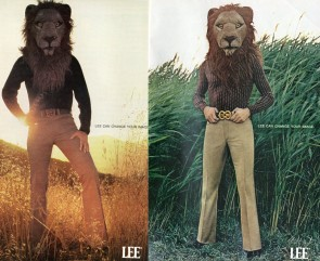 You can buy jeans customized by a lion.