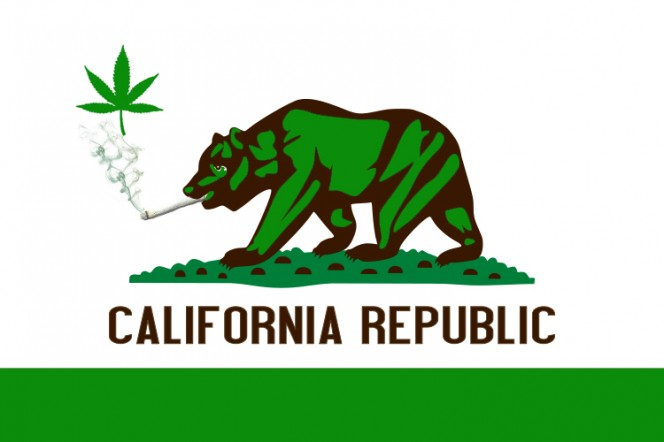 California Marijuana Bear Flag