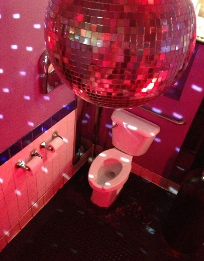 Disco bathroom