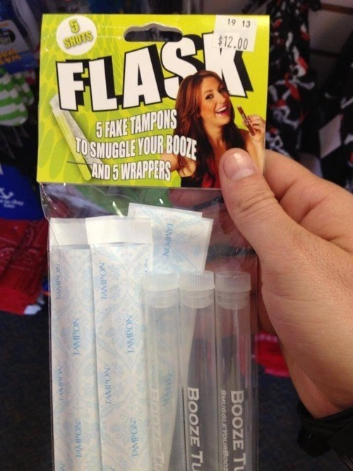 tampon flasks at the store