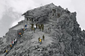 The eruption of Mt. Ontake sucked the color out of the World.