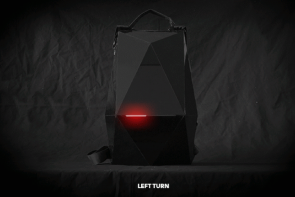 There's a backpack with turn signals for bike commuters.