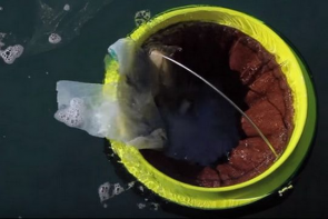 This ingenious trash can will help clean our world's ocean.