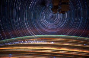 Long exposure photography from space is out of this world.