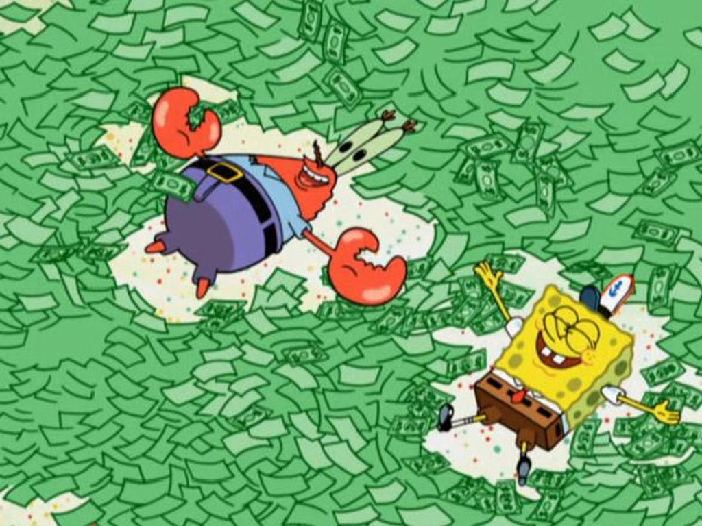 swimming in cash