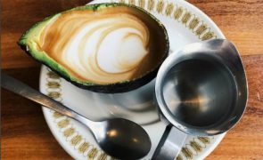 You can get a latte served inside an avocado.
