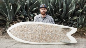 There is A Surfboard Made From Used Cigarette Butts
